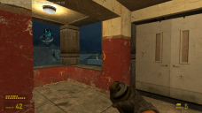 Climbing to the control room of the lighthouse, a gunship swoops in and shoots out the windows in an attempt to attack the player.