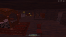 Blockout of the master bedroom
