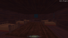 Blockout of the servants' quarters