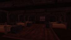 A shot of the servant's quarters after decoration